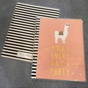 Happy Planner llama party confetti stripe cover